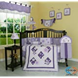 GEENNY Boutique 13 Piece Crib Bedding Set, Lavender Butterfly