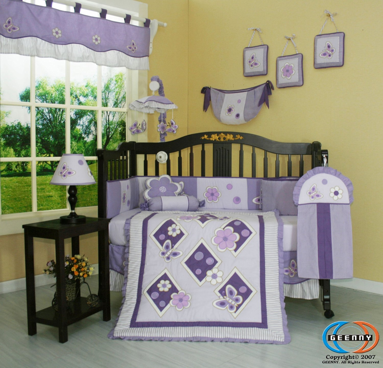Baby bedding crib sets - Amazon Com Geenny Boutique 13 Piece Crib Bedding Set Lavender Butterfly Baby Bedding Crib Sets Girl Baby