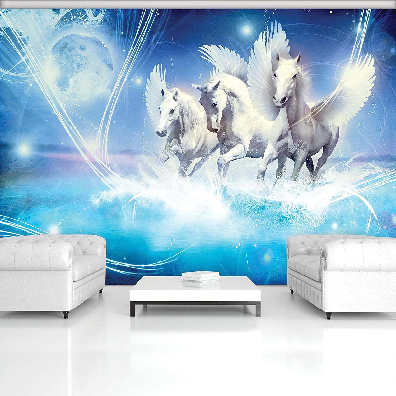 FORWALL Fototapete Vlies - Tapete Moderne Moderne Moderne Wanddeko Pegasus auf blauem Hintergrund VEXXXL (416cm. x 254cm.) AMF588VEXXXL Wandtapete Design Tapete B0784D1GPF Wandtattoos & Wandbilder 86a3e7