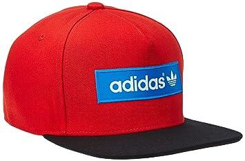 adidas Herren Cap Trefoil Flat Brim, Collegiate RedBlack