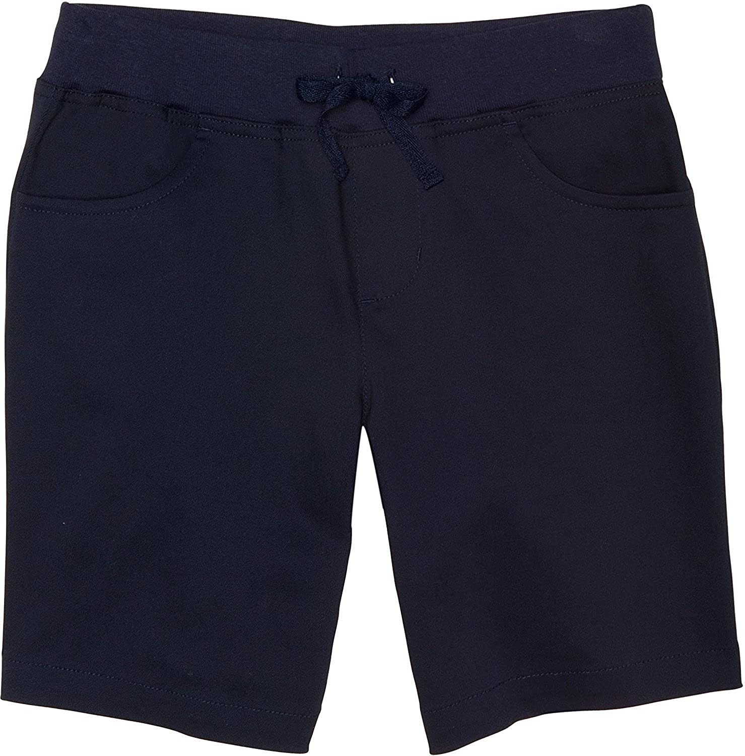 French Toast School Uniform Girls Pull-On Tie Front Shorts 4 Navy