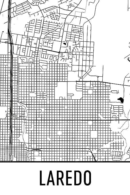 Map Of Texas Laredo.Amazon Com Laredo Print Laredo Art Laredo Map Laredo Texas