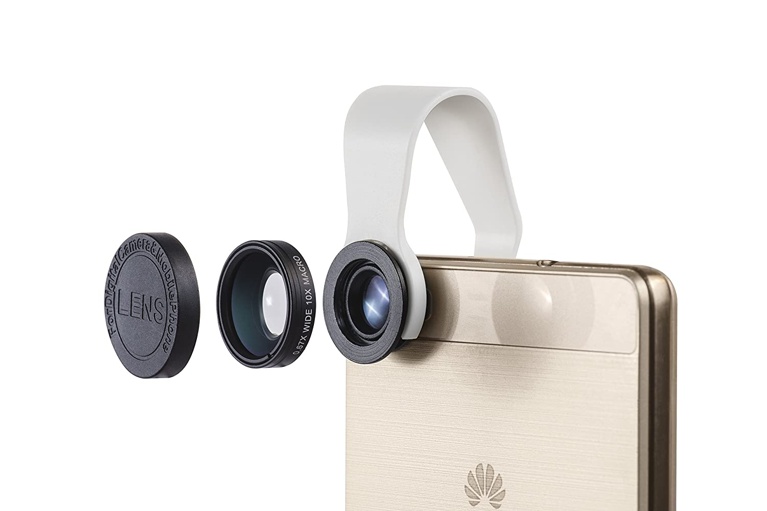 Alternative to Olloclip Google Phones Macro and Wideangle lens Pocket Lens iPhone Camera Lens 2-in-1 Samsung iPads Comes With Waterproof Pouch Fits All iPhones