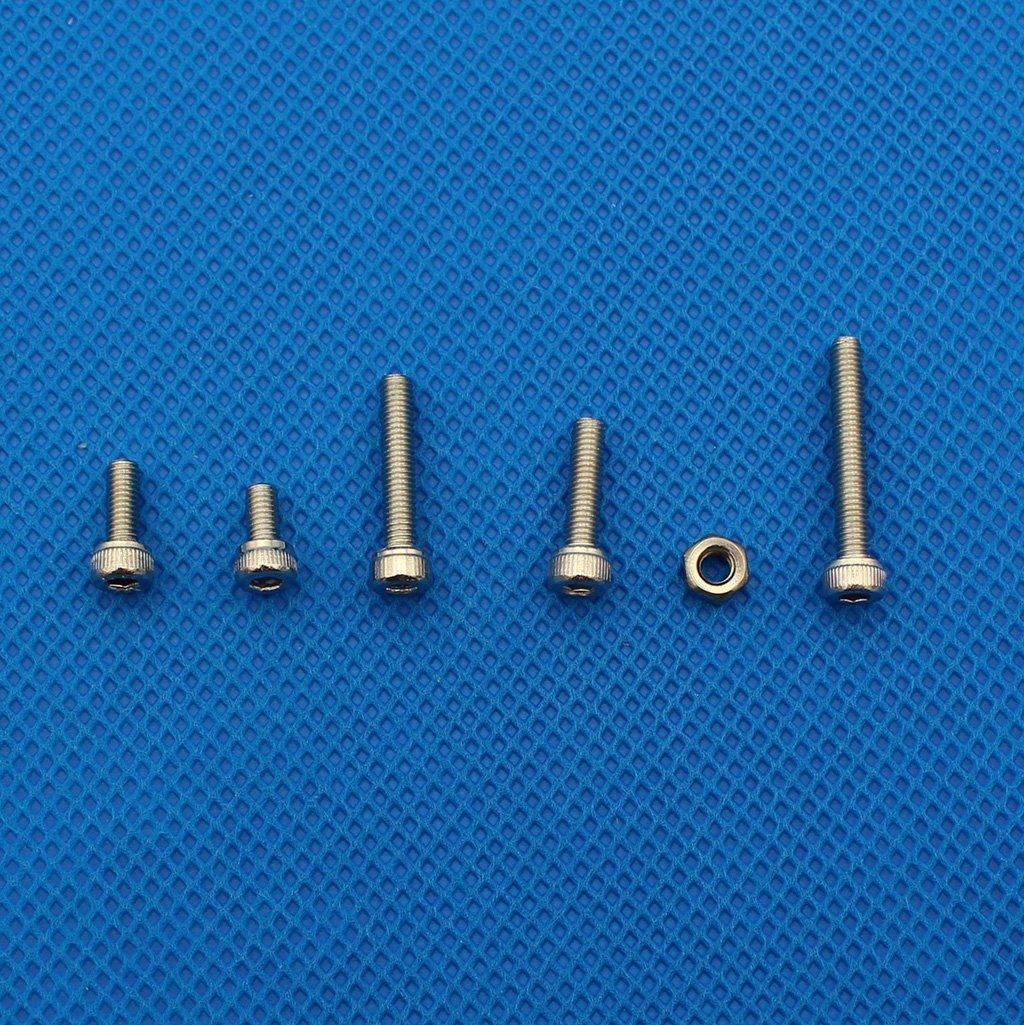 Raogoodcx 180pcs M3 Stainless Steel Hex Socket Head Cap Screws Nuts Assortment Kit