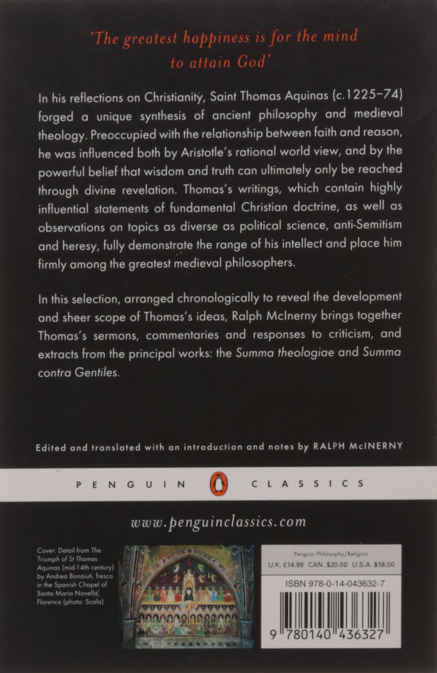 thomas aquinas selected writings penguin classics thomas thomas aquinas selected writings penguin classics thomas aquinas ralph mcinerny 9780140436327 com books