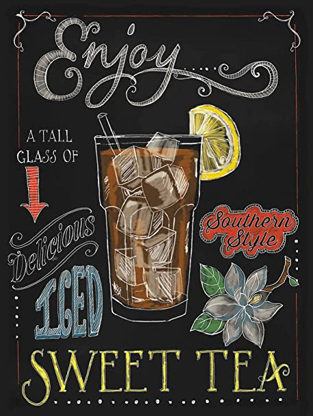 Enjoy Sweet Tea Pintura de Hierro Cartel de Metal Vintage ...