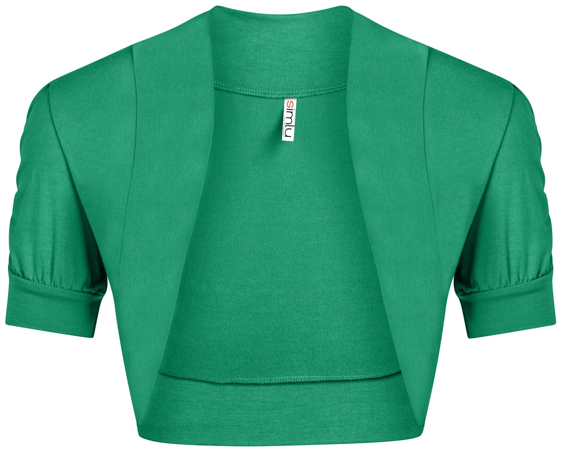 Womens Emerald Short Sleeve Bolero Shrug Sweater Cardigan Ladies Evening Shrug Regular  Emerald Medium