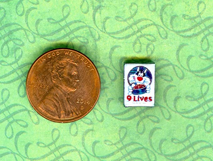 1:24 Half Inch Scale Dollhouse Miniature  Cat Food  box # 9