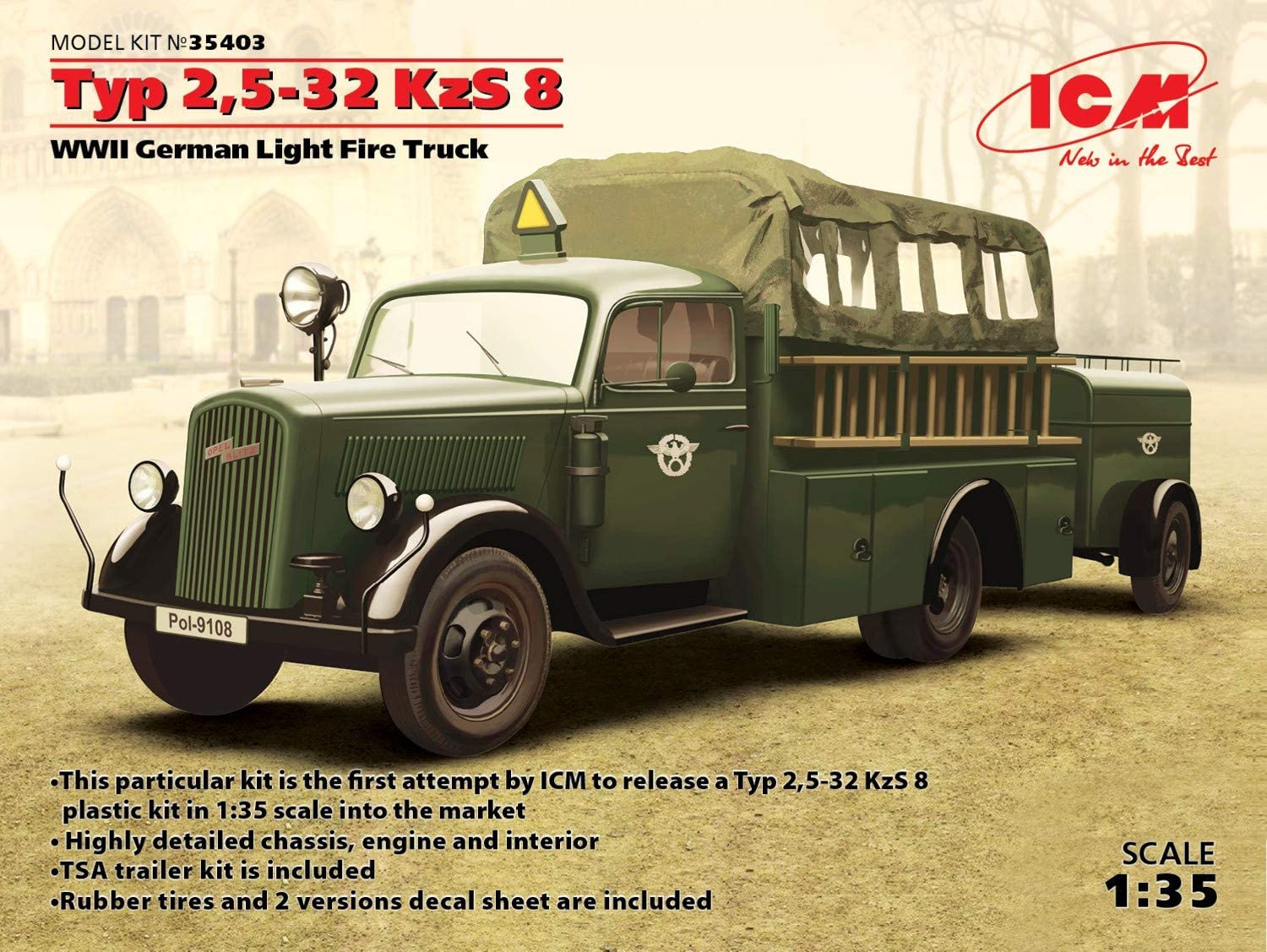 FIRE ENGINE PICTURES PLASTIC GERMAN