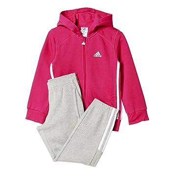 adidas LK ESS Hojo TS - Chándal Unisex, Color Rosa/Blanco, Talla 98: Amazon.es: Deportes y aire libre