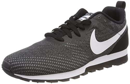 Nike Men's MD Runner 2 Eng Mesh Trainers, Grey (Black/White/Gunsmoke