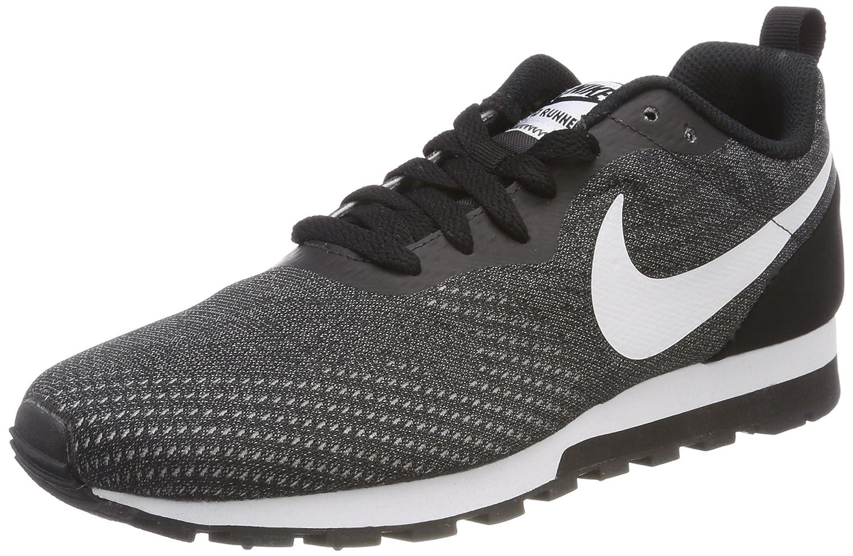 Nike Sneaker MD Runner 2 Eng, Zapatillas de Entrenamiento para Hombre, Negro (Black/White-Gunsmoke 004), 40 EU