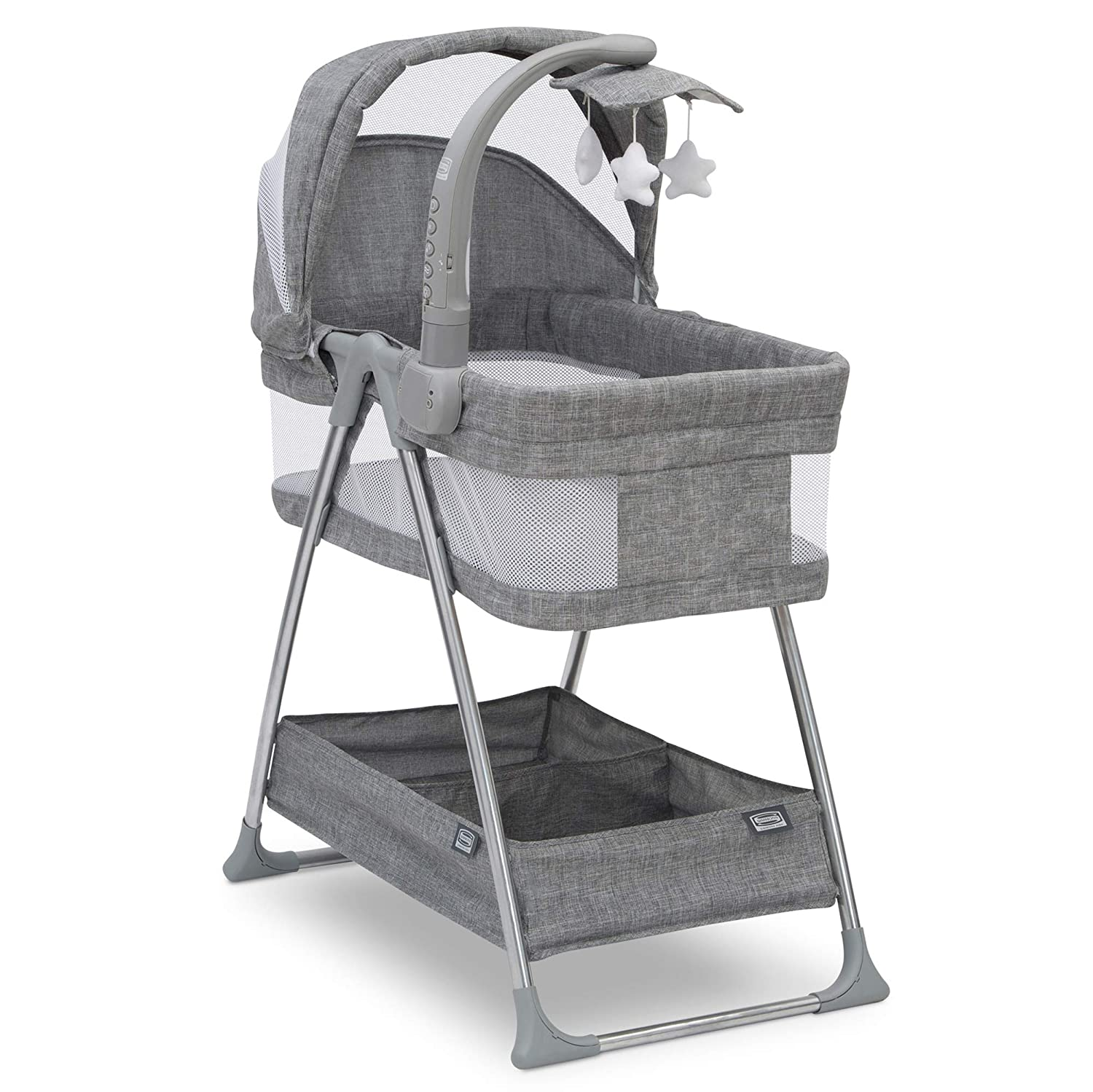 Simmons Kids City Sleeper Bassinet, Grey Tweed