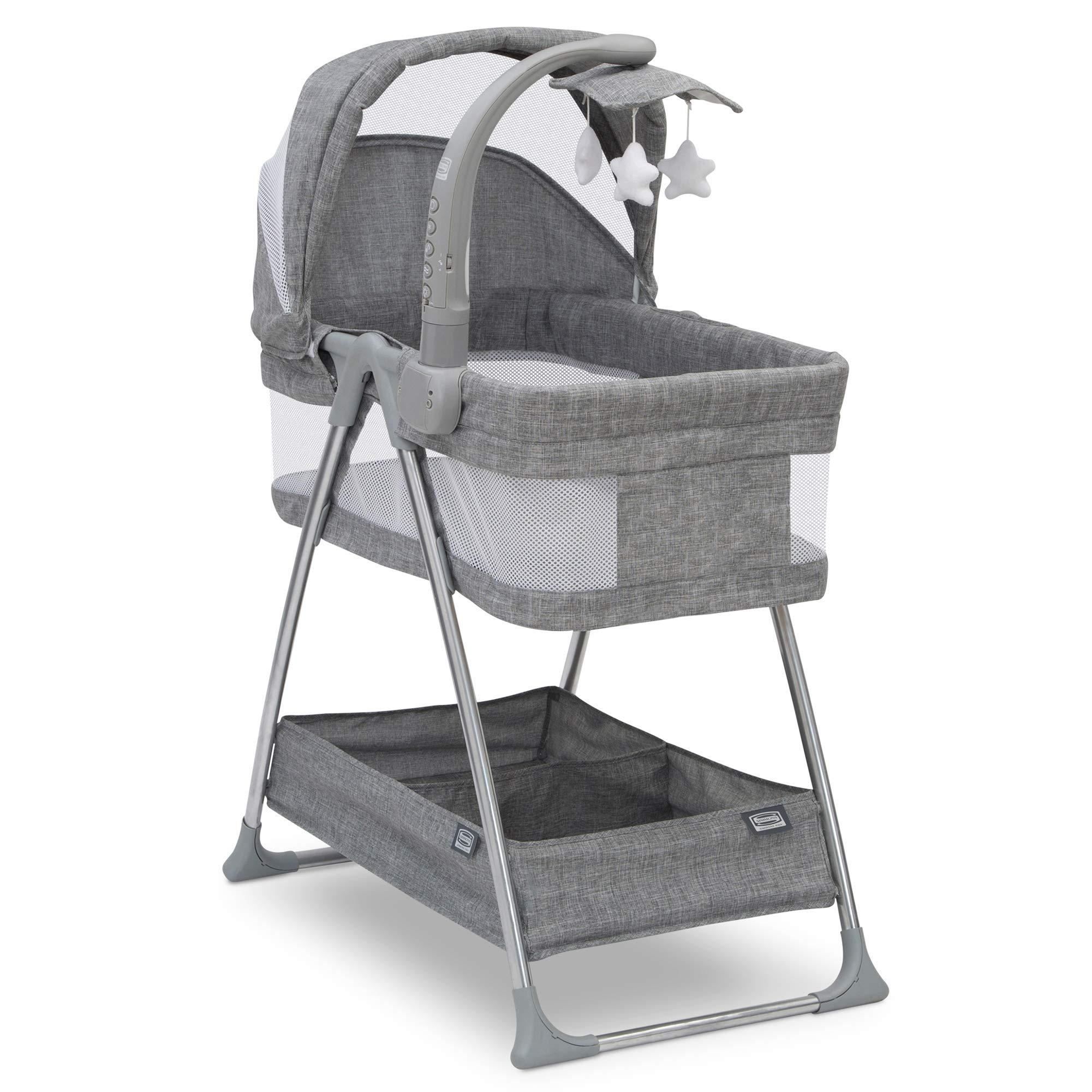 Simmons Kids City Sleeper Bassinet, Grey Tweed