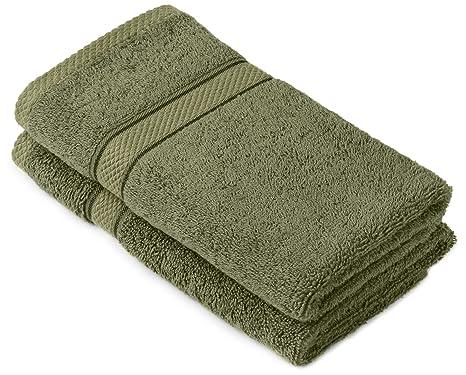 Pinzon by Amazon - Juego de toallas de algodón egipcio (2 toallas de manos)