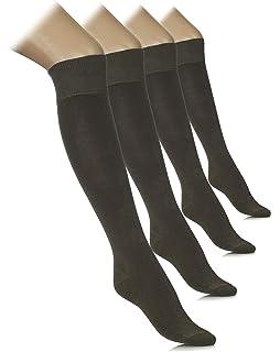 13df46891 Ladies 2 Pair Sockshop Plain Bamboo Knee High Socks (6-10, Alpine ...