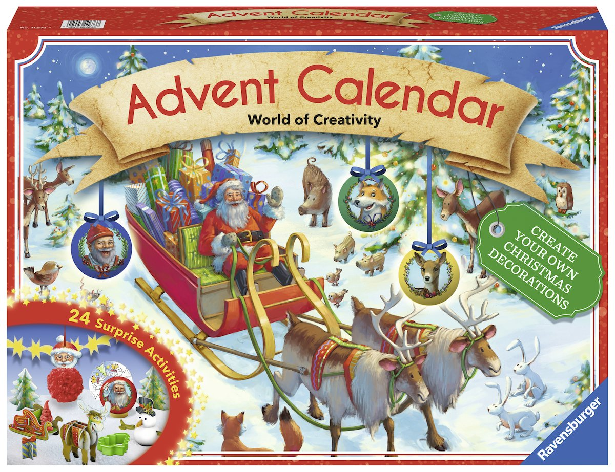 Ravensburger 11673 - DIY Adventskalender 2017 - World of Creativity Ravensburger Spieleverlag