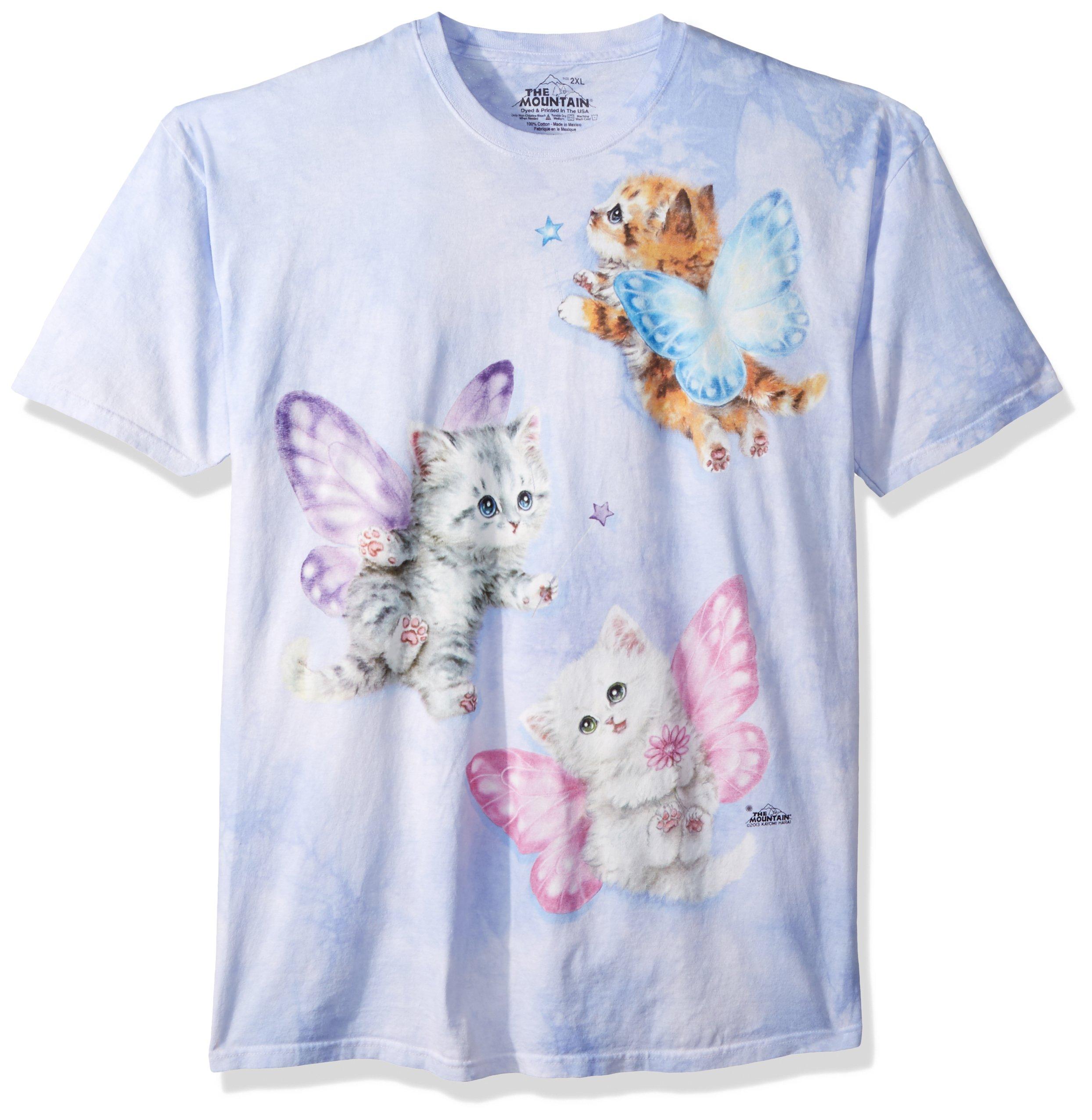 0b37223388f75c The Mountain Kids Butterfly Kitten Fairies T-Shirt