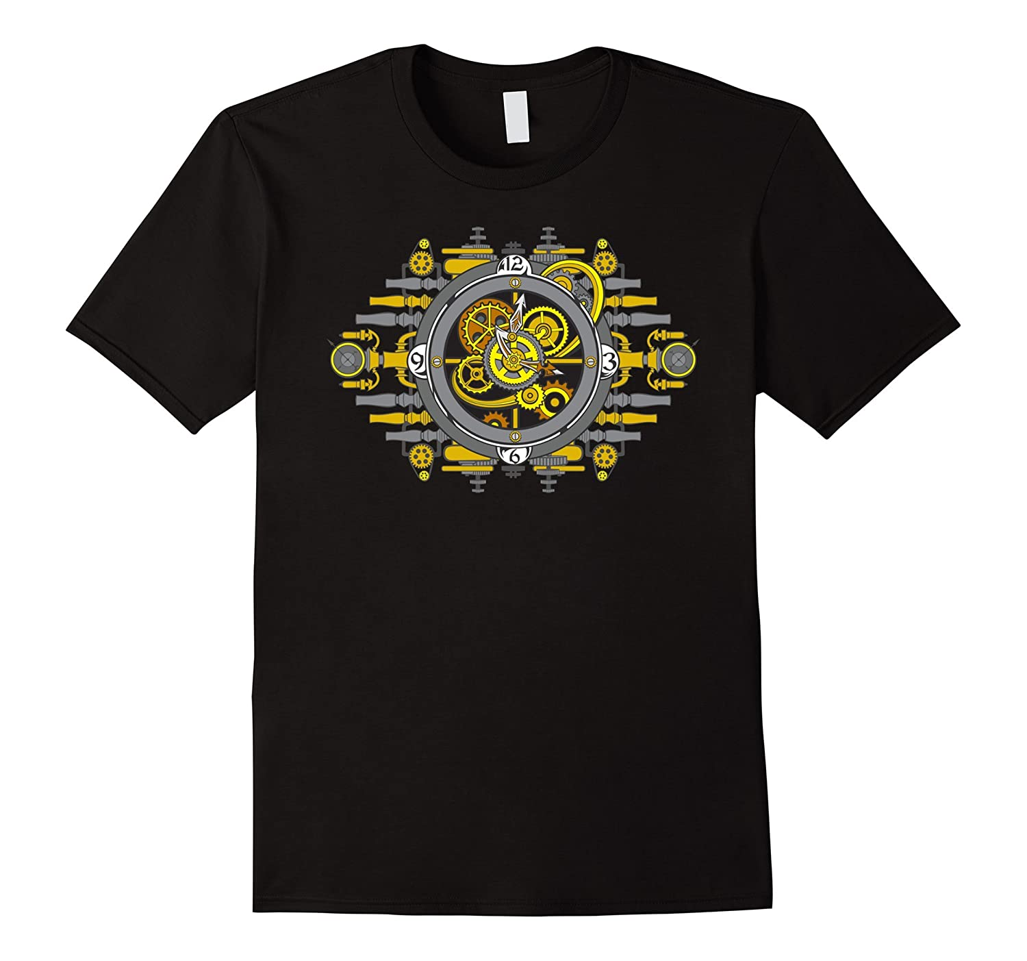 Steampunk Mechanical Clockwork Gears T-shirt