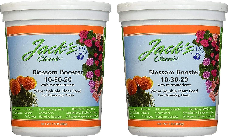 J R Peters Inc 51024 Jacks Classic No.1.5 10-30-20 Blossom Booster Fertilizer (1, Тwo Рack)