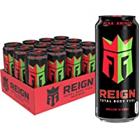 Reign Total Body Fuel, Melon Mania, Fitness & Performance Drink, 16 Oz (Pack of 12)