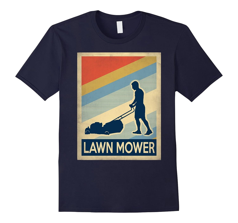 Vintage style lawn mower Tshirt-TJ