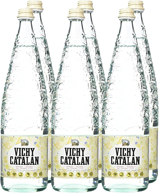 Vichy Catalán Agua Mineral con Gas botella cristal 1 litro - [Pack ...