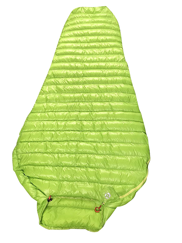 AEGISMAX Schlafsack aus 95% Gänsefedern, sehr leicht und bequemer Mumienschlafsack grün M L, grün