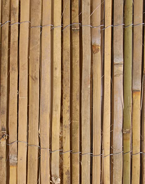 Papillon Bamboo Slat Natural Garden Fence Screening Roll Privacy Border  Wind & Sun Protection 4 0mx 1 2m (13ft 1in x 3ft 11in)