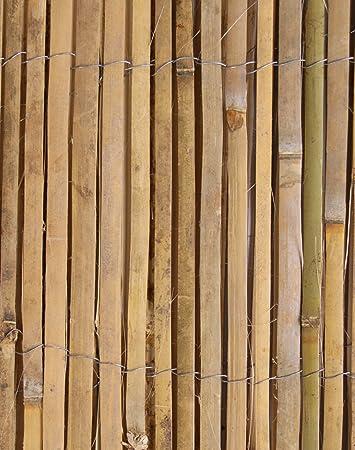 bambus sichtschutz aus leisten bambusmatte 4m rolle 2m hoch papillon