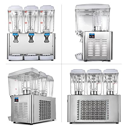 Cueffer 54L Dispensador de Bebida 3X18L Dispensador para Jugo Caliente y Frío Dispensador para Bebidas Comerciales