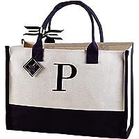mud pie p-initial bolsa de lona
