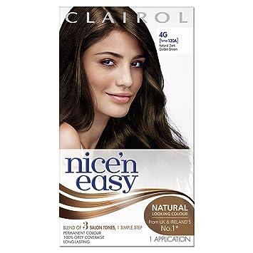 Clairol Nicen Easy Permanent Hair Dye AG Natural Dark Golden - Hair colour dark golden brown