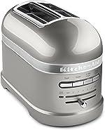 KitchenAid Pro Line Series Sugar Pearl Silver 2-Slice Automatic Toaster