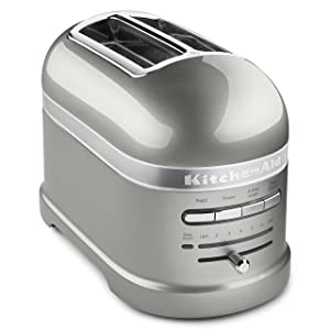 KitchenAid Pro Line Series Sugar Pearl Silver 2-Slice Automatic Toaster