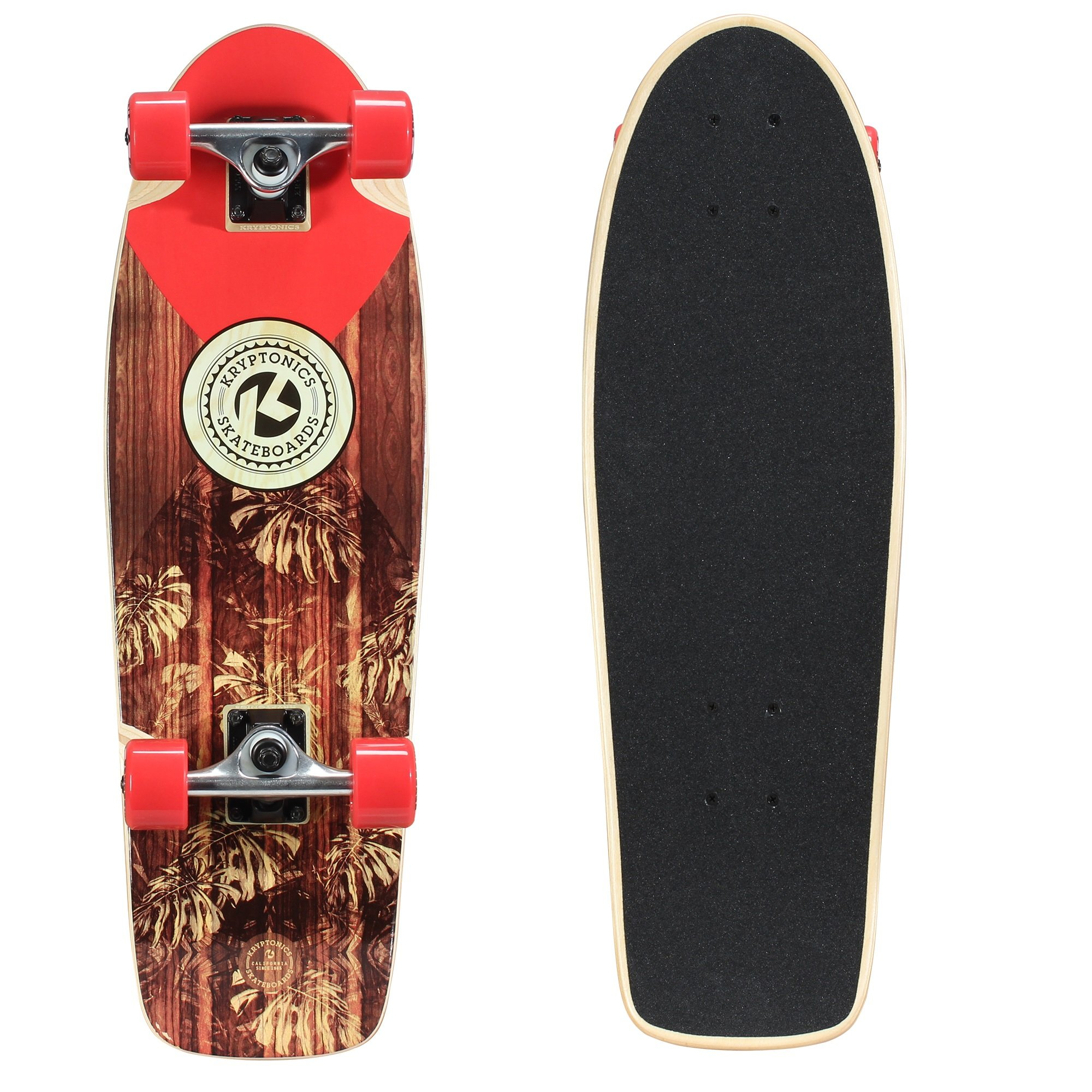Kryptonics In-Lay Cruiser 28'' Skateboard, Solid
