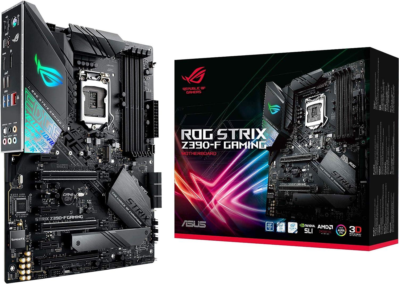 Amazon.com: ASUS ROG Strix Z390-F Gaming Motherboard LGA1151 (Intel 8th and  9th Gen) ATX DDR4 DP HDMI M.2 USB 3.1 Gen2 Gigabit LAN: Computers &  Accessories