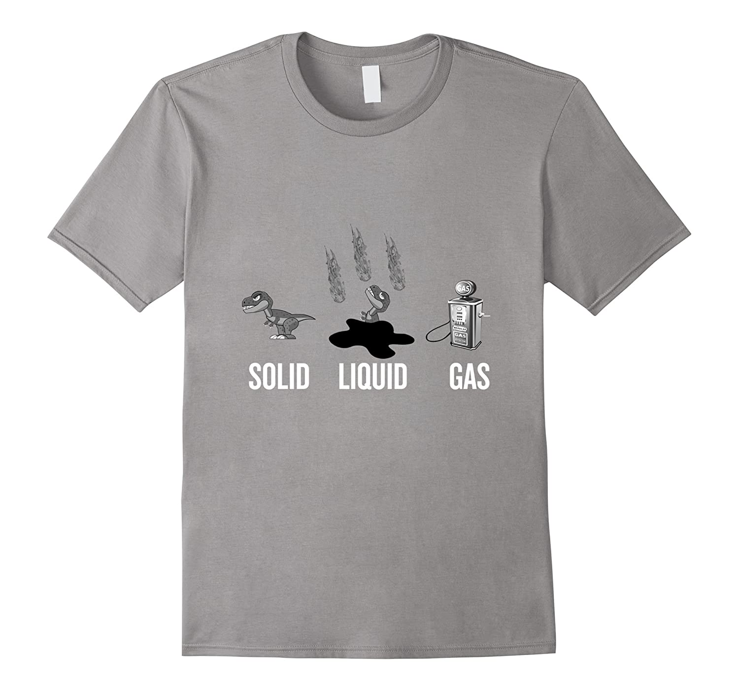 c32cb025 Dinosaur Solid Liquid Gas T-shirt for funny back to school-CL – Colamaga