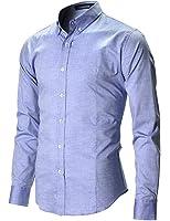 FLATSEVEN Herren Slim Fit Freizeit Oxford Button Down Hemd