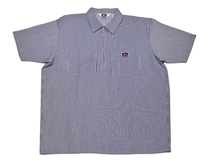 e77266eaf7 Ben Davis Heavyweight Striped Short Sleeve Work Shirts Hickory 3X-Large