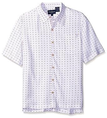 a9a3412a Nat Nast Men's Circle Print Short Sleeve Shirt at Amazon Men's ...