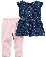 Carter's Baby Girls' 2-Piece Printed Top And Pants Set