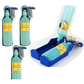 5x Reise Trinkflasche Wasserspender für Hund + Katze Hunde Tränke ...