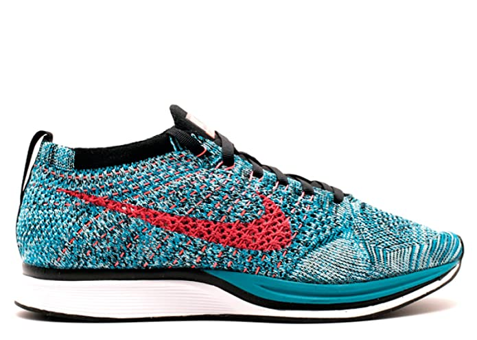 finest selection cce92 2b43b Amazon.com   Nike Flyknit Racer Men s Big Kid s Shoes Neon Turquoise Bright  Crimson Glacier Ice 526628-404 (11 D(M) US)   Road Running