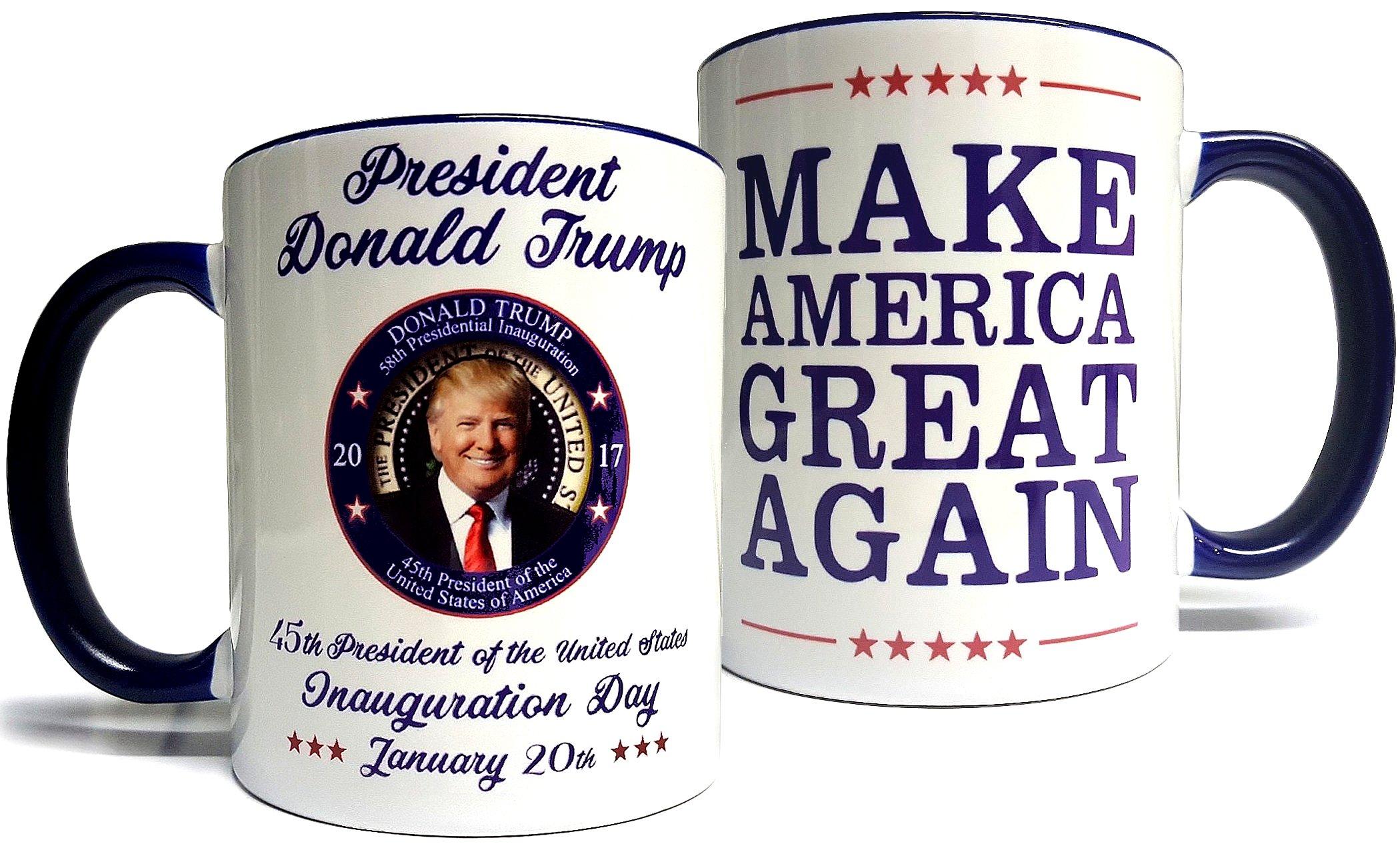 Donald Trump Inauguration Mug - Make America Great Again - Quality Grade A Ceramic 11oz Mug/Cup - Foam Box Protection (Perfect Gift) by USA Prime