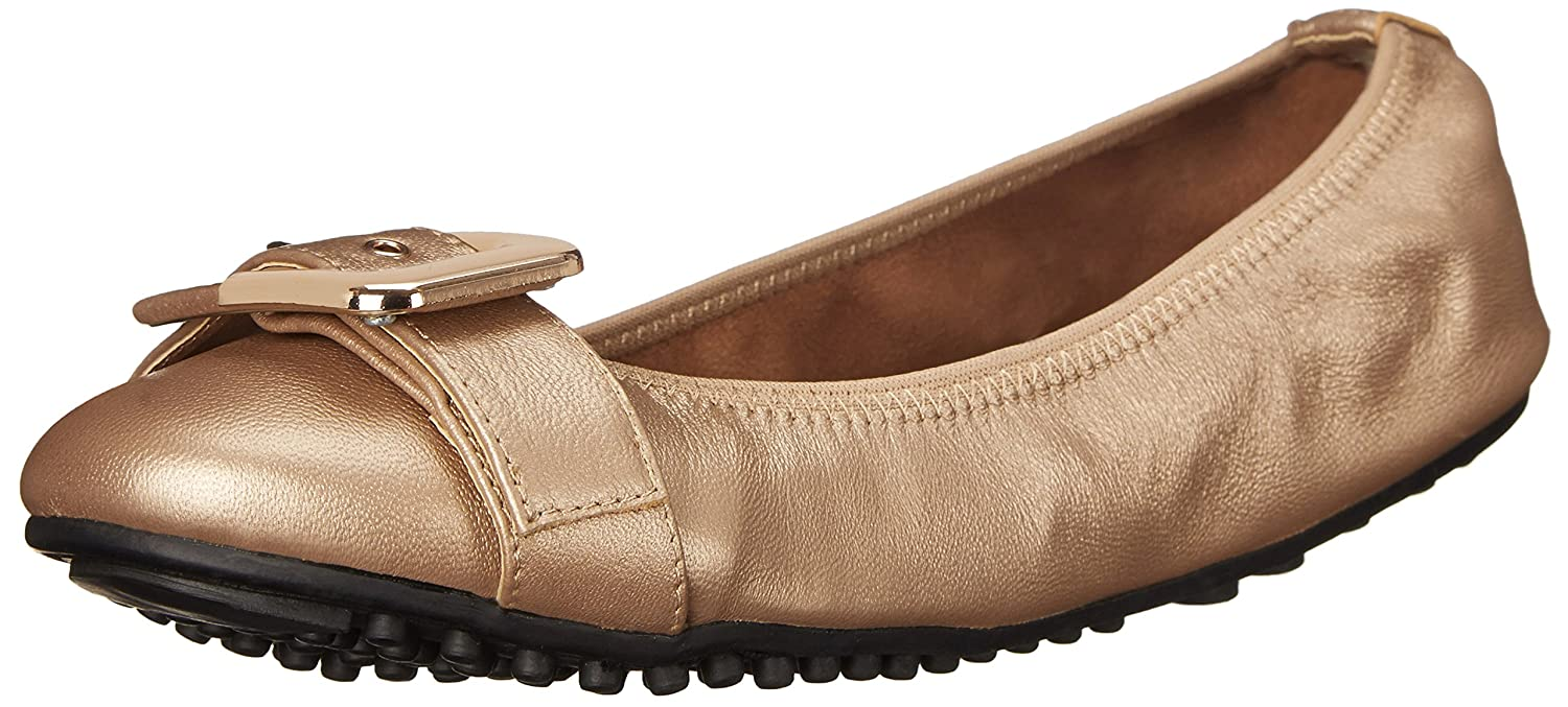 Bella Vita Women's Twirl Ballet Flat B00ZIDE7N0 6.5 XW US|Rose Gold Leather