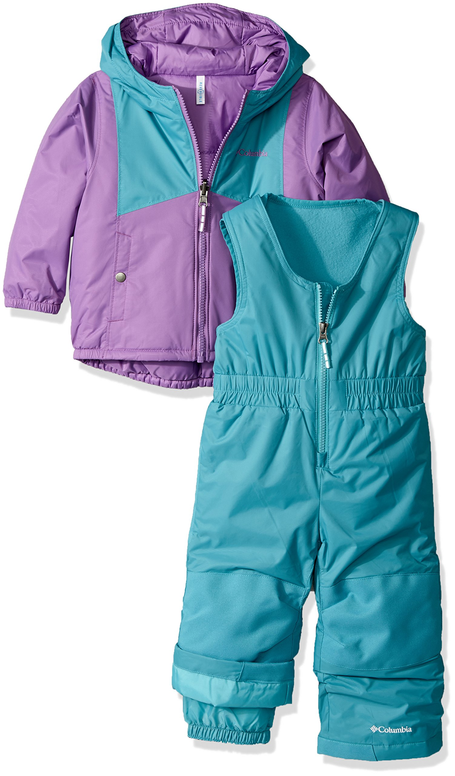 Columbia Toddler Girls' Double Flake Set, Crown Jewel, Pacific Rim, 2T by Columbia