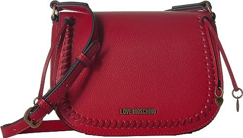 a62140071c4 Amazon.com: LOVE Moschino Women's Shoulder Bag w/Gold Heart Charms ...