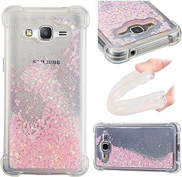 ChoosEU Coque pour Samsung Galaxy Grand Prime G530 Paillette Transparente Silicone Bumper Souple Motif Glitter 3D Soft Étui Antichoc Design Drole ...