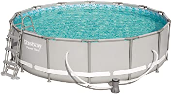 Fabulous Bestway Power Steel Frame Pool Set, rund 427x107 cm XW68